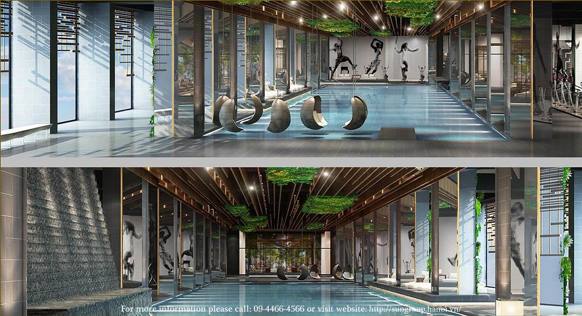 Bể bơi tiện ích Thuy Khue Residences